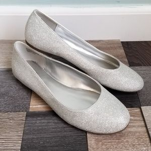 Silver Formal Flats